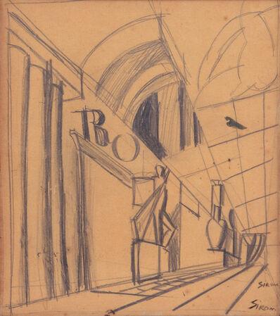 Mario Sironi, 'Studio', 1930 ca.