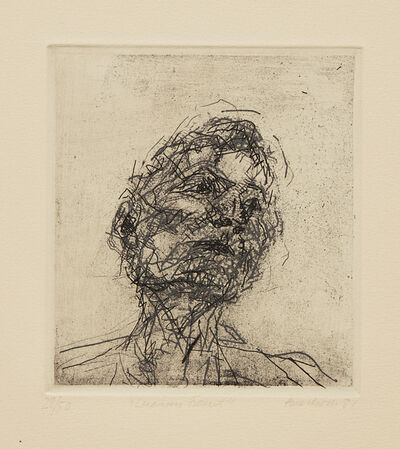 Frank Auerbach, 'Lucian Freud, from Six Etchings of Heads', 1981