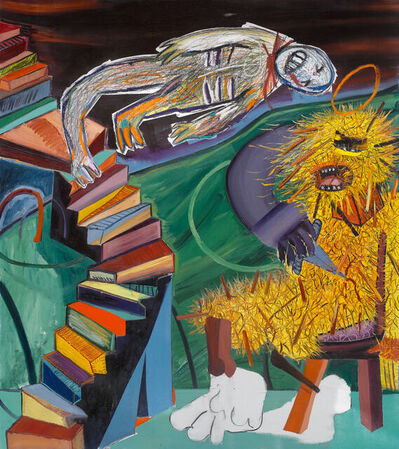 Tincuta Marin, 'St Bigfoot and the Staircase (after Duchamp's Nude Descending a Staircase)', 2020