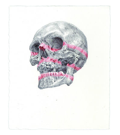 Guno Park, 'Red Striped Skull', 2016