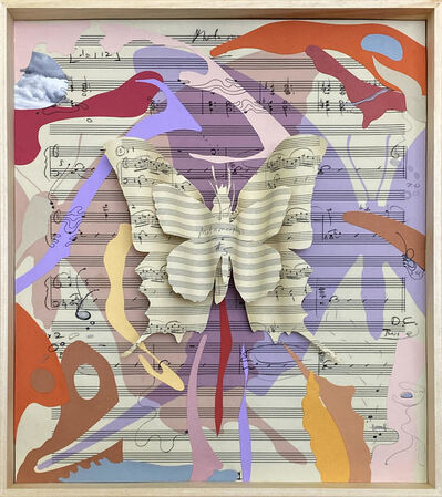"Erika Harrsch, 'Hue Variations inside Glass, M-5-5 Orange-Purple"" (After Kafka, Glass and Turrell)', 2020"