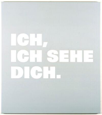 Remy Zaugg, 'Neue Bilder 48d  Ich,/ich sehe/ Dich.', 1998