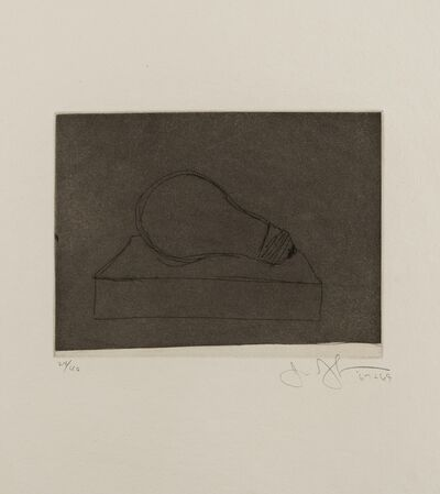 Jasper Johns, 'Large Lightbulb (ULAE.58)', 1969