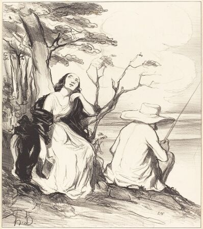 Honoré Daumier, 'O douleur!... avoir rêvé... un époux...', 1844