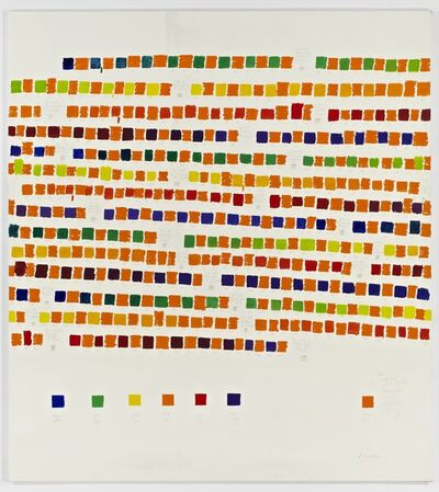Osvaldo Romberg, '1-389 All the Colors of the Chromatic Circle Interacted by Orange Cadmium', 1980
