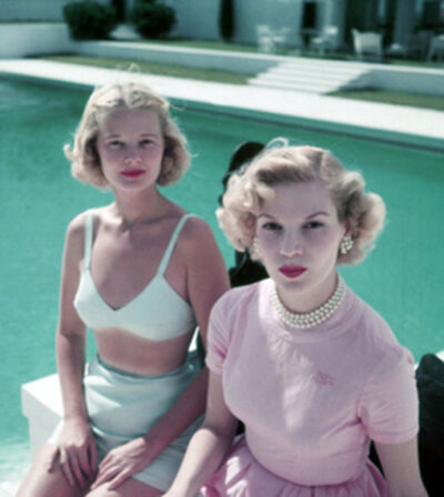 Slim Aarons, 'Connelly And Guest, circa 1955: American socialite C.Z. Guest with Joanne Connelly in Palm Beach', 1955