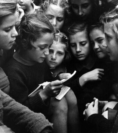 David Seymour, 'Group of girls, Poland', 1948