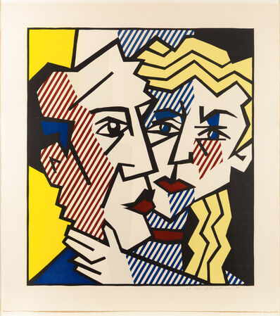 Roy Lichtenstein, 'The Couple, from the Expressionist Woodcut series', 1980