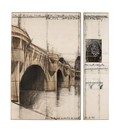 Christo, 'The Pont Neuf, Wrapped (Project for Paris)', 1983