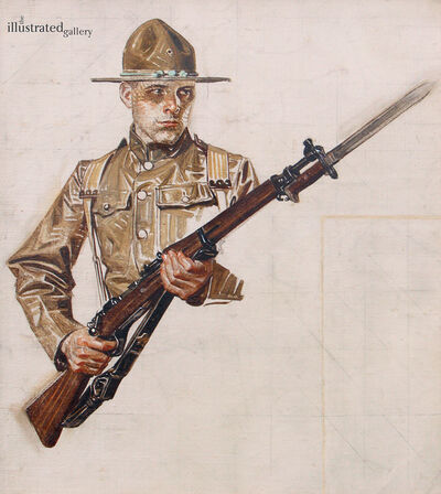 Joseph Christian Leyendecker, 'Study for World War I Soldier Collier's Cover', 1917