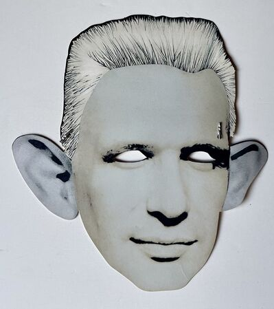 "Jean Paul Gaultier, '""Palladium & Jean Paul Gaultier"", Look-Alike Contest Invitation Paper Mask/Flyer ', ca. 1987"