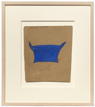 Bill Traylor, 'Blue basket', ca. c. 1939-42