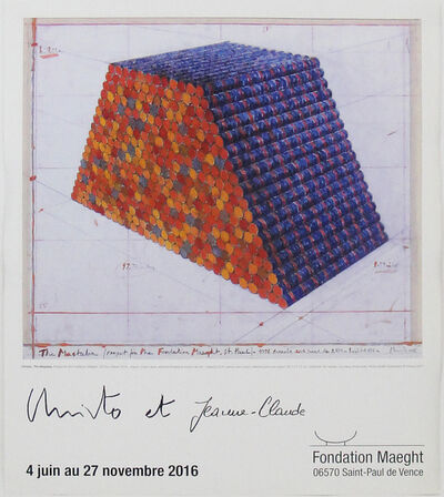 Christo and Jeanne-Claude, 'Le Mastaba - Exposition Fondation Maeght', 2016