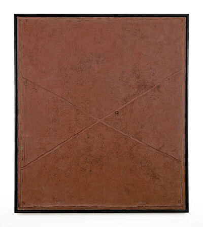 Antoni Tàpies, 'Cross on Brown', 1960