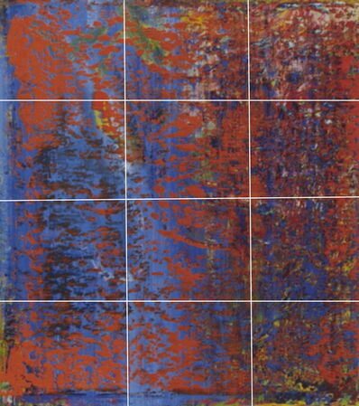 Greg Allen, 'Destroyed Richter Grid No.1 A-L (12)', 2016