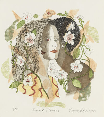 Emma Amos, 'Twined Flowers', 2009