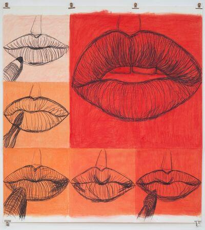 Gina Beavers, 'Red Lip Drawing', 2017