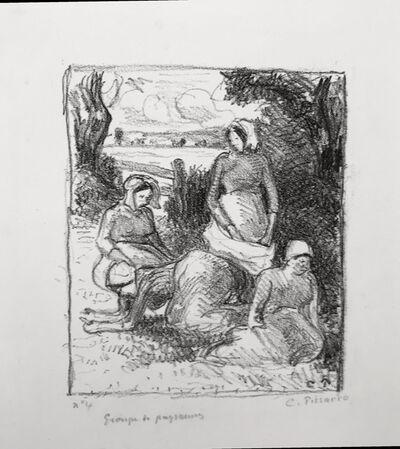 Camille Pissarro, 'Group de paysans', ca. 1896