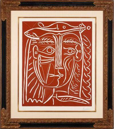 Pablo Picasso, 'Tête de femme / paysage avec baigneurs', 1962