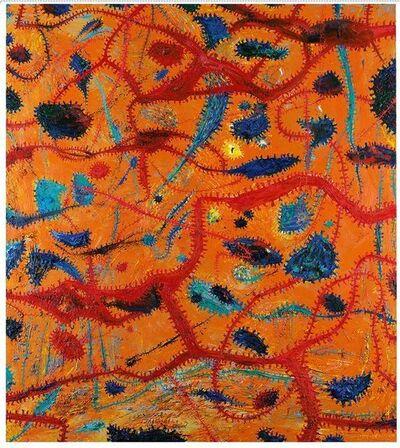 Gunter Damisch, 'Oranges Wegverschlingungsfeld', 2004