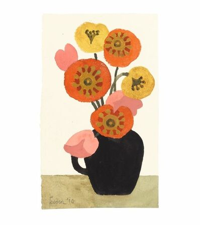 Mary Fedden, 'Black Vase with Flowers', 2010
