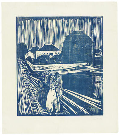 Edvard Munch, 'The Girls on the Bridge', 1918