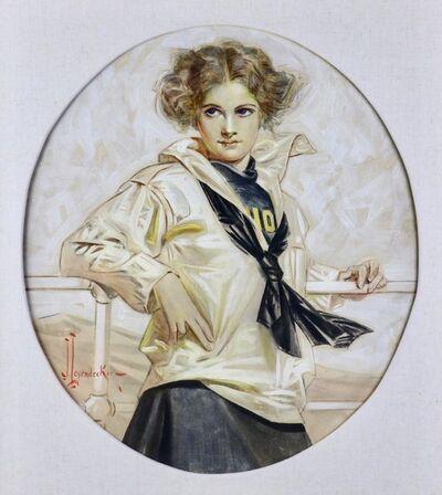Joseph Christian Leyendecker, 'Lucky Bag Girl', 1910