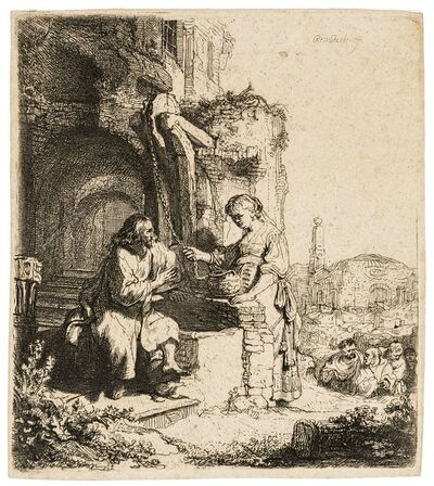 Rembrandt van Rijn, 'Christ and the woman of Samaria among ruins', 1634