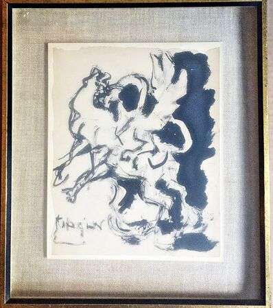 Jacques Lipchitz, 'Study for Bull and Condor (original drawing)', 1964