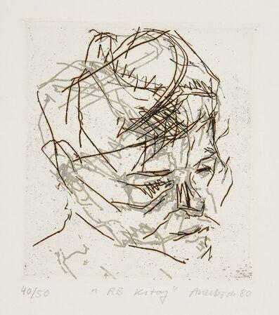 Frank Auerbach, 'RB Kitaj [Marlborough 10]', 1980