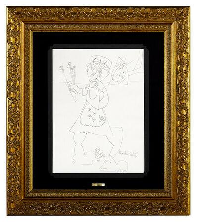 Alexandra Nechita, 'Alexandra NECHITA Original Ink Drawing Signed Cubism painting Art AUTHENTIC', 1997