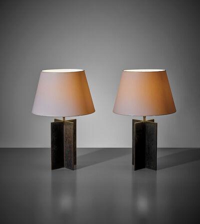 Jean-Michel Frank, 'Pair of 'Croisillon' table lamps', circa 1940