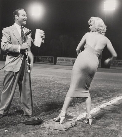 Frank Worth, 'Marilyn Monroe and Ralph Edwards at the 1952 Hollywood Entertainers Baseball Game', 1952