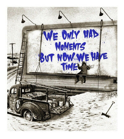 Mr. Brainwash, 'Now is the Time (blue)', 2020