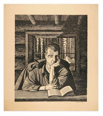 Rockwell Kent, 'BOOKS MAKE THE HOME', circa 1940