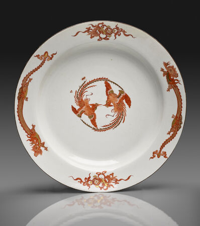"Meissen Porcelain Factory, 'Large Dish from the ""Red Dragon"" Service', ca. 1730"
