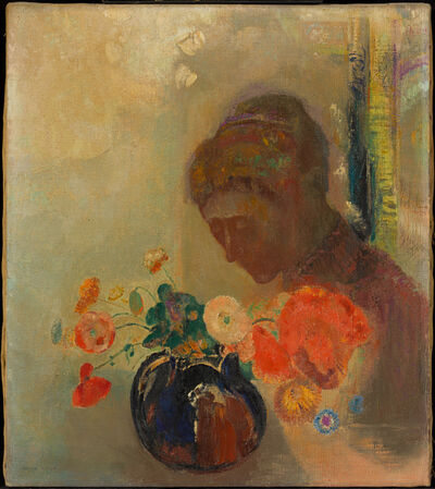 Odilon Redon, 'Woman with a Vase of Flowers', ca. 1903