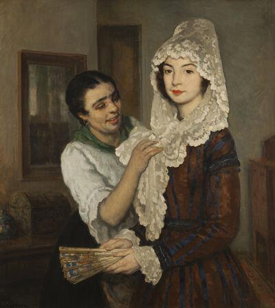 Francis Luis Mora, 'Lace Mantilla'