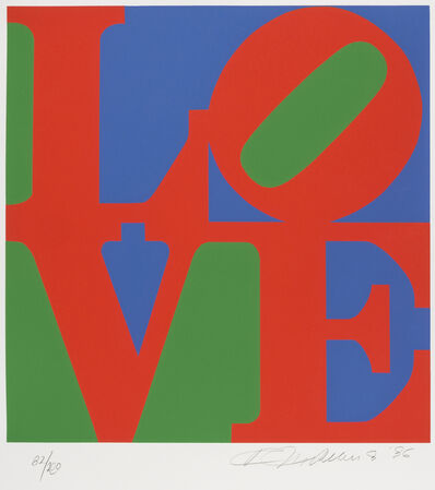 Robert Indiana, 'Love (Green, Red, Blue)', 1996