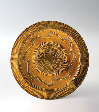 Onda Yaki, 'Large Dish with Amber Glaze', n/a