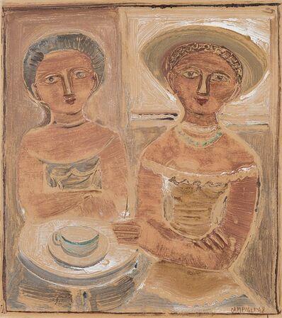 Massimo Campigli, 'Due figure - Donne al caffè', 1948