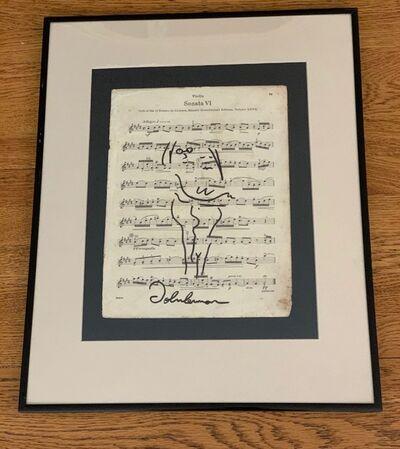 John Lennon, 'Music Sheet', Unknown