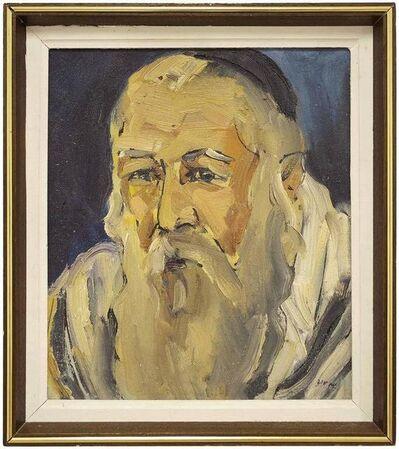 Shaul Victor, 'Israeli Judaica Oil Painting, Holy Man Portrait', 20th Century