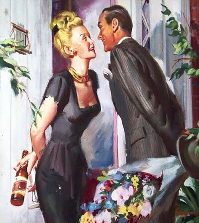 Gil Elvgren, 'Beer Advertisement', 1940-1949