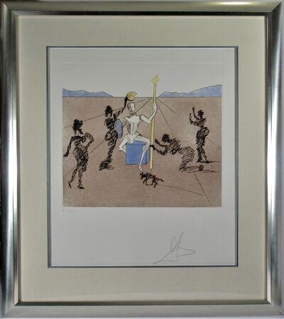 Salvador Dalí, 'The Golden Helmet of Mandrino, from, Historia de Don Quichotte de la Mancha', 1981
