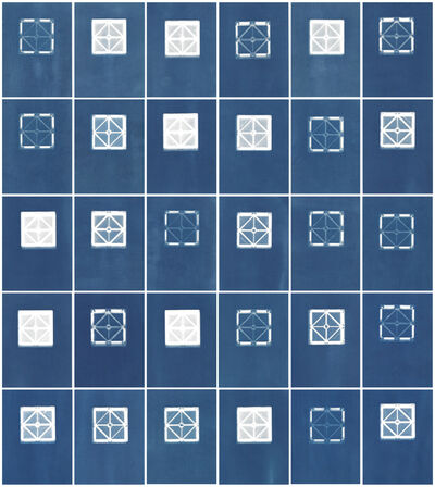 Sarah Irvin, 'Cyanotype Archive: Small Square Playmags', 2020