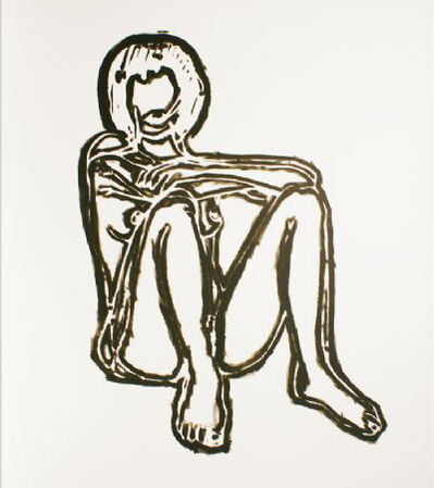 Tom Wesselmann, 'Monica Sitting with Elbows on Knees', 1991