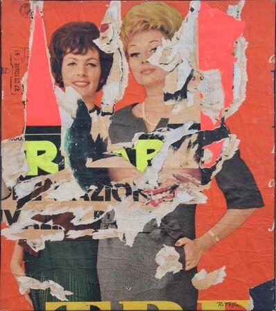 Mimmo Rotella, 'Allo Specchio', 1961
