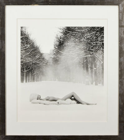 Patrick Lichfield, 'Girl on Snow, USSR', 1989