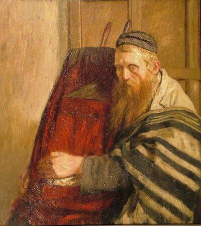 William Rothenstein, 'Rabbi Holding the Torah ', 1902-1907
